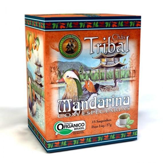Chá Tribal de Mandarina Orgânico 15 saches 22,5g - Tribal