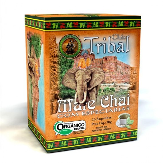 Chá Tribal de Mate Chai Orgânico 15 saches 30g - Tribal