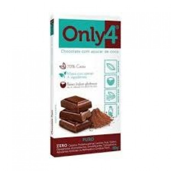 Chocolate 70% de Cacau Sabor NIBS 80g - Only4