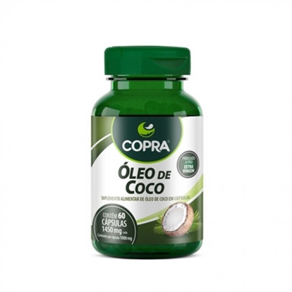 Oléo de Coco Extra Virgem - 60 Cápsulas - Copra