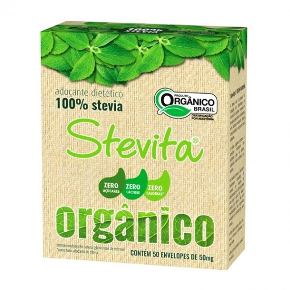 Adoçante Stévia  C/ 50 Envelopes 50mg cada - Stevita
