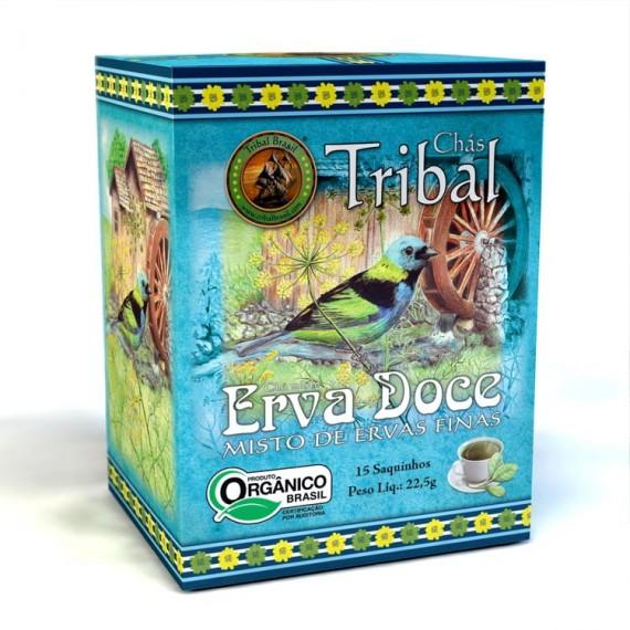 Chá Erva Doce 15 saches 22,5g - Tribal
