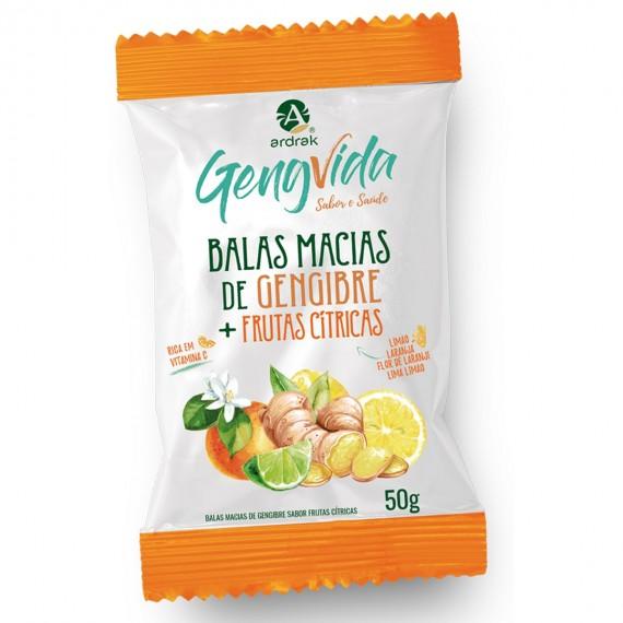 Bala De Gengibre Frutas Cítricas 50g - Ardrak