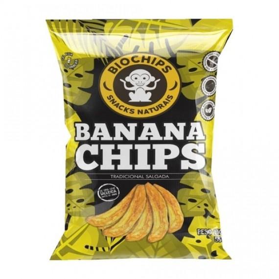 Banana Chips Tradicional Salgada 50g - Bio Chips