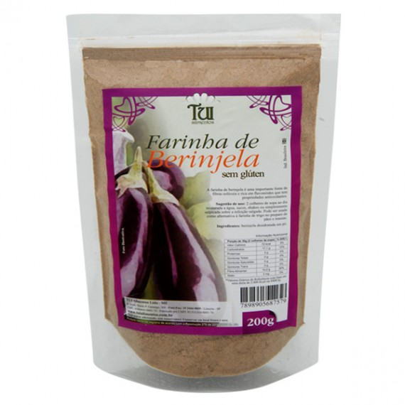 Farinha de Berinjela S/ Glúten 200g - Tui