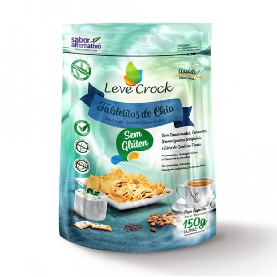 Biscoito Tabletitos de Chia Sem Glúten Leve Crock 150g - Sabor Alternativo