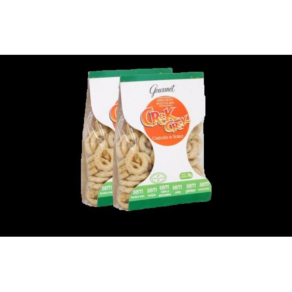 Biscoito de Polvilho Cebola e Salsa 50g - Crek Crek