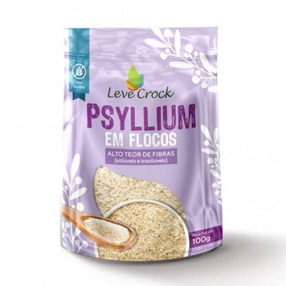 Psyllium em Flocos 100g - Leve Crock