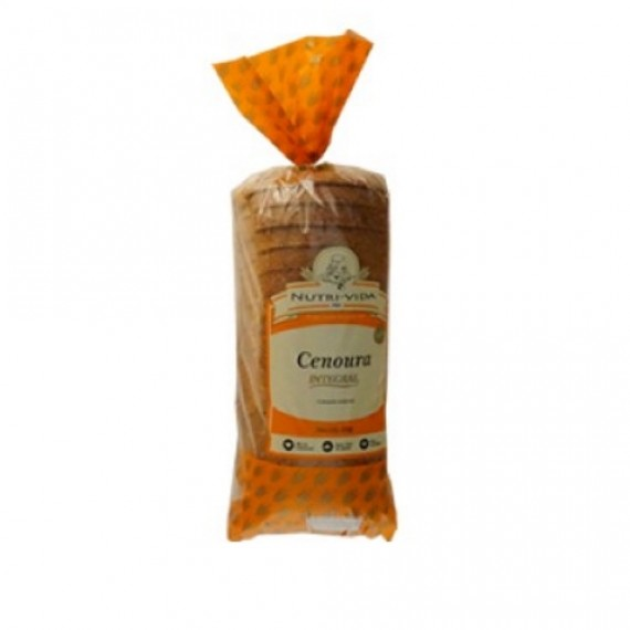 Pão Cenoura Vegano 400g - Nutri-Vida