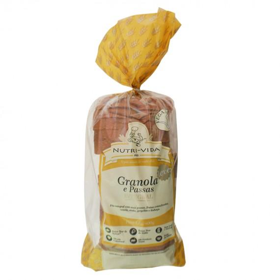 Pão Granola e Passas Vegano 400g - Nutri-Vida