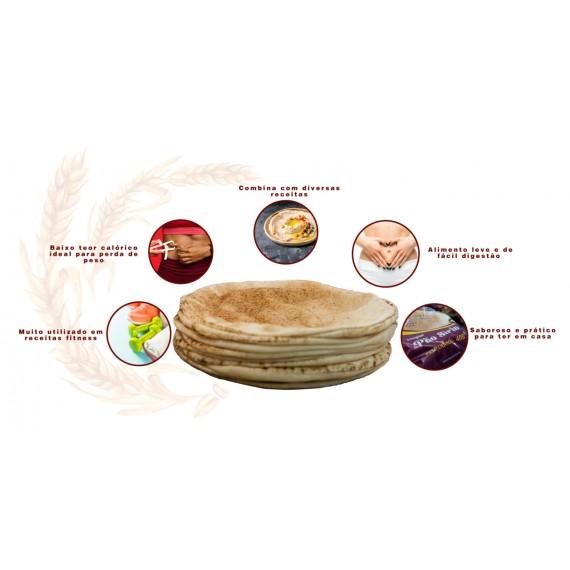 Pão Sírio Tradicional 325g (6 un.) - Pão da Cidade