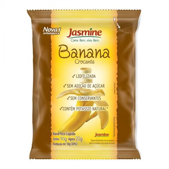Banana Crocante Liofilizada 20g - Jasmine