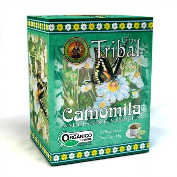Chá Tribal de Camomila Melissa e Menta Orgânico 15 Saches 15g - Tribal