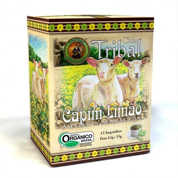 Chá Tribal - Capim Limão, Melissa Orgânico 15 Saches 15g - Tribal