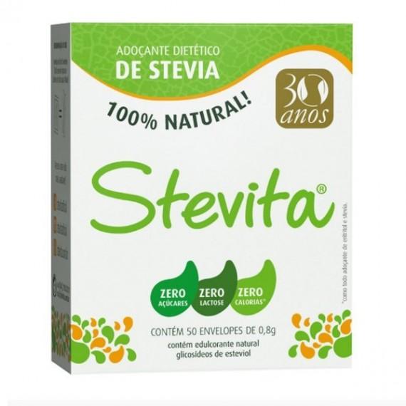 Adoçante de Stevia 50 Saches 600mg cada - Stevita